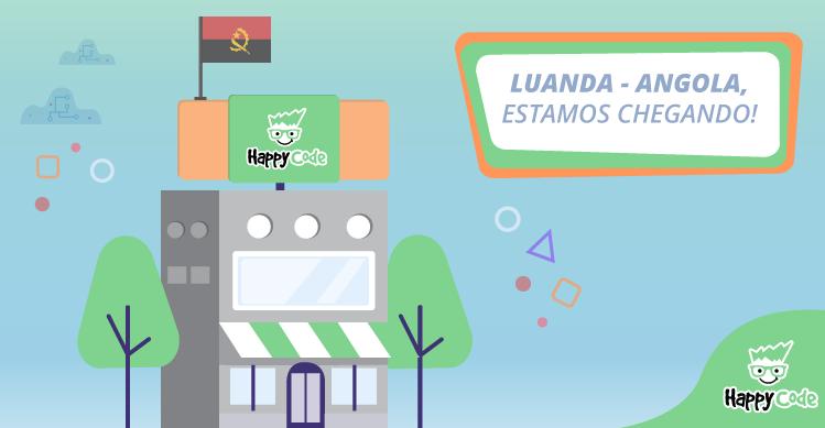 Happy Code continua em expansão e chega em breve a Luanda na Angola!
