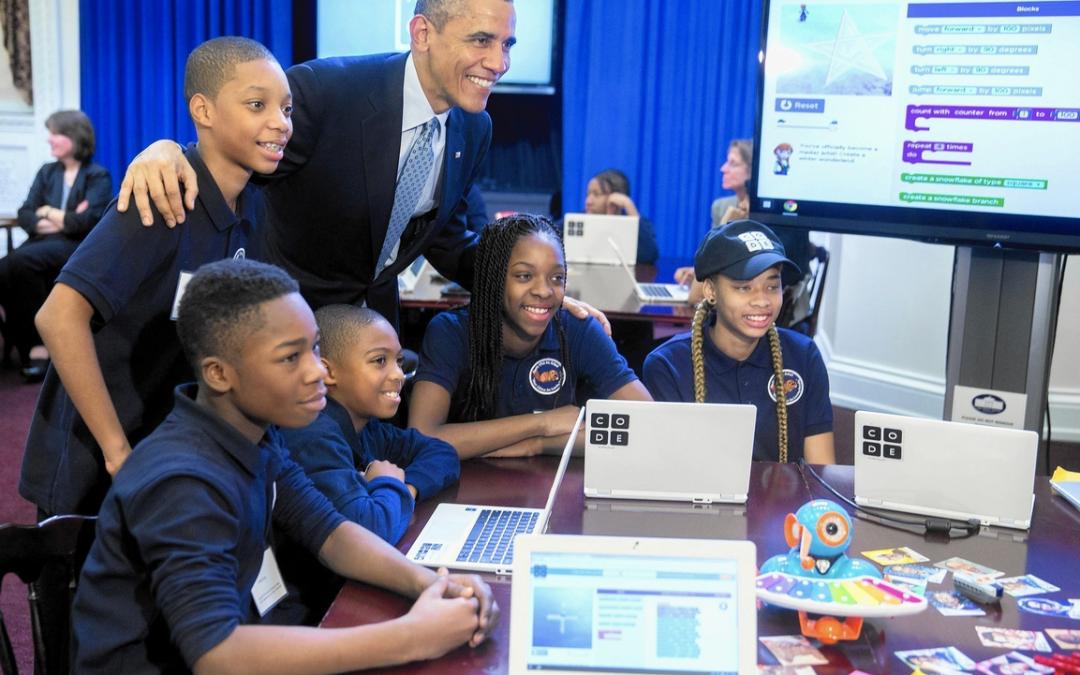 Dash & Dot visitaram Presidente Barack Obama na Casa Branca