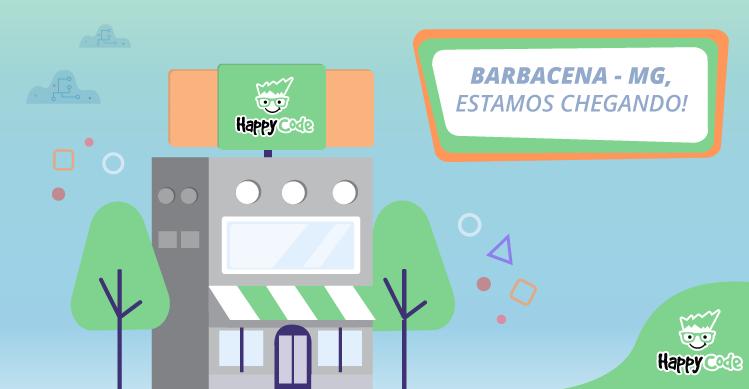 Happy Code continua em expansão e chega em breve a Barbacena, com os melhores cursos de tecnologia e inovação