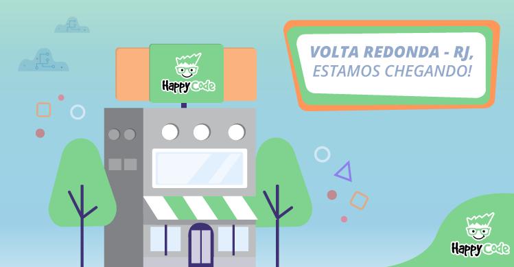 Happy Code continua em expansão e chega em breve a Volta Redonda, com os melhores cursos de tecnologia e inovação